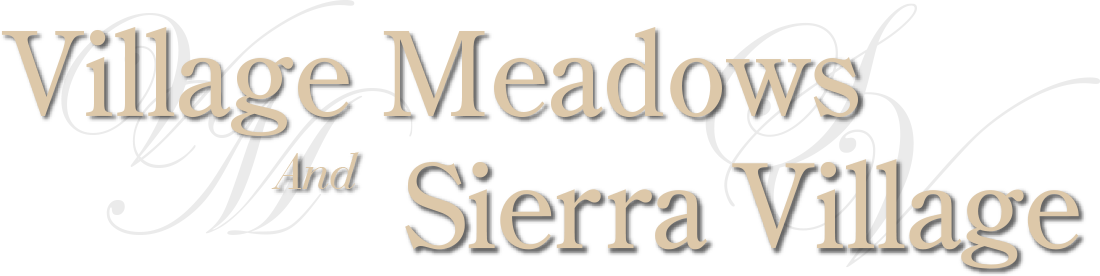 Village Meadows and Sierra Village Logo